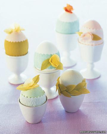 Яйця обмотані гофрованим папером