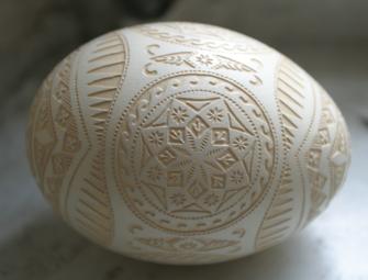 Травленка - різьблене дерев'яне яйце